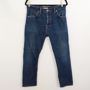 RE/DONE Levi's High Rise Cropped Jeans, Size 30